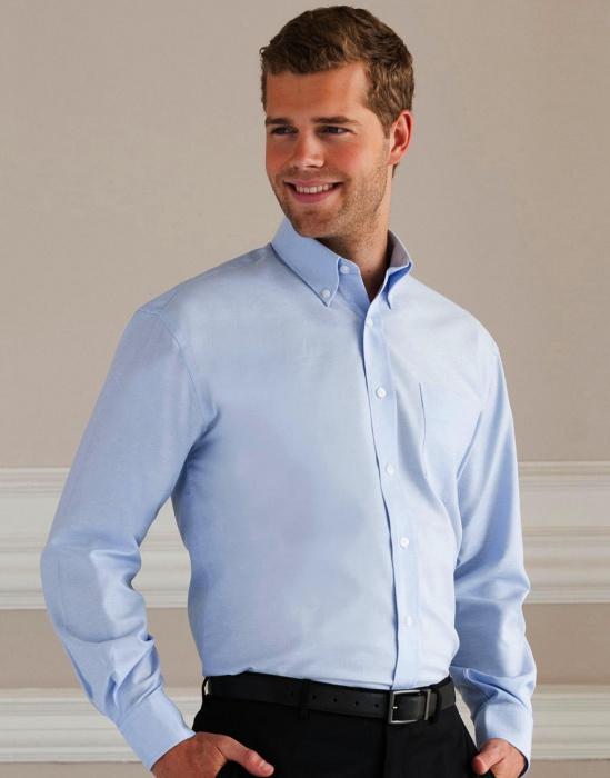 Pextex.cz - Pánská košile s dlouhým rukávem Oxford Russell europe 444a2986f8
