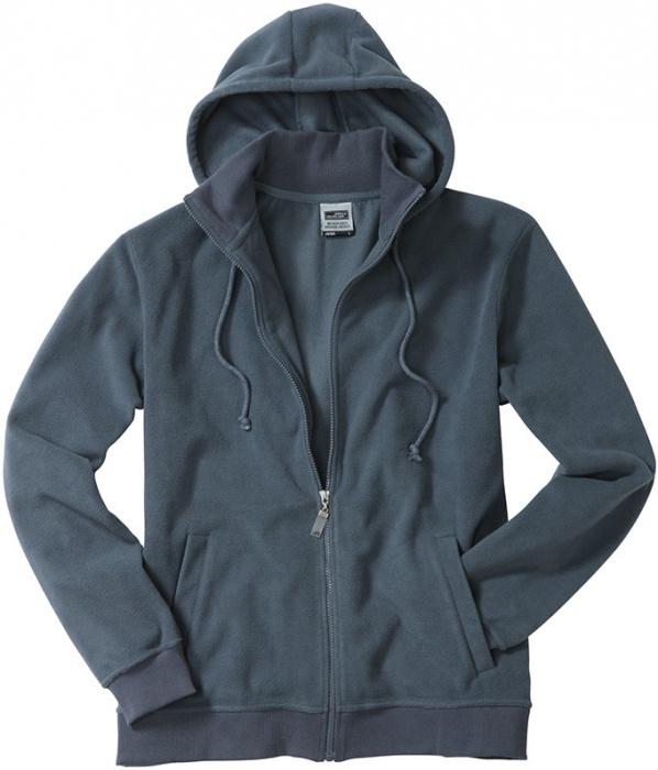1042d53a5500 Pextex.cz - Pánská fleecová bunda James   Nicholson Micro Fleece Hooded  Jacket - carbon