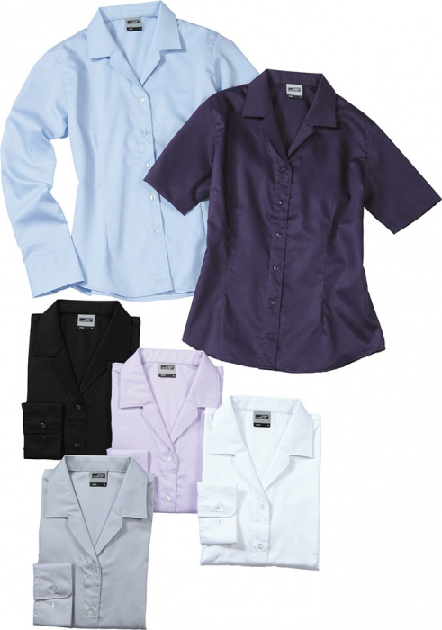c9e759a7360 Dámská košile s dlouhým rukávem James   Nicholson JN608  Dámská košile  James   Nicholson Ladies  Business Blouse Long-Sleeved ...