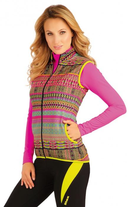 Pextex.cz - Dámská vesta na zip se stojáčkem barevná Litex 086 1ff3bc1e83