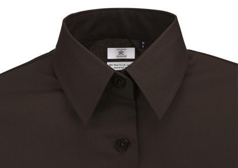 5a0a0608d8e ... Dámská Elastan LS popelínová košile s dlouhým rukávem B C