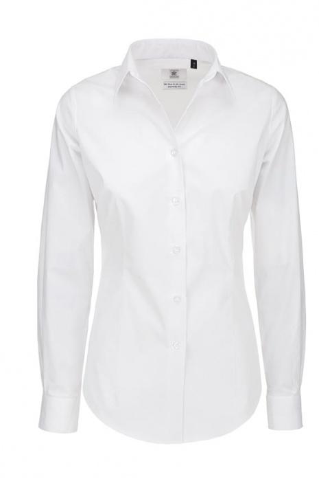bc1e73af3db Dámská Elastan LS popelínová košile s dlouhým rukávem B C