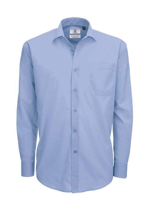 844c6f58dd9 Pánská popelínová košile s dlouhým rukávem Smart Men B C